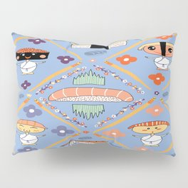 Japanese Kawaii Sushi Nodders Bobbleheads Pillow Sham