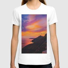 Santorini,Fira,Sunset T-shirt
