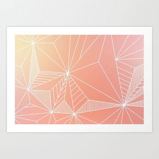 Paradise Geo Blush Art Print