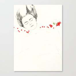 Fruit sleeping (redcurrant) Canvas Print