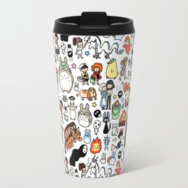 Kawaii Ghibli Doodle Travel Mug