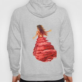 Mysterious Lady in Red Hoody