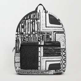 Vhs Tapes and Vinyl Collection with TV Glitch Backpack