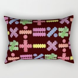 Seamless Colorful Abstract Mathematical Symbols Pattern II Rectangular Pillow