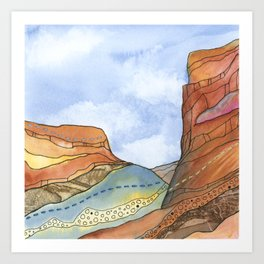 Canyon Cathedral 4 Art Print