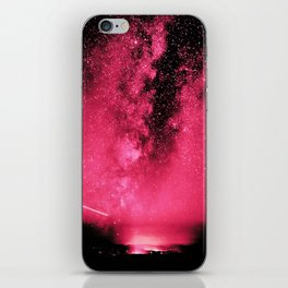 Desert Night Sky Magenta Pink iPhone Skin