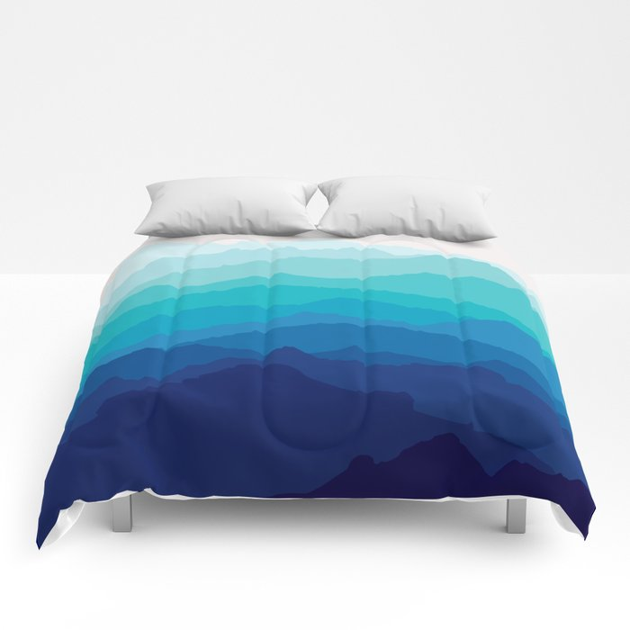 Blue Mist Mountains Comforters