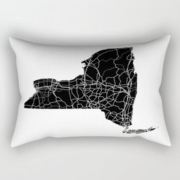 New York Black Map Rectangular Pillow