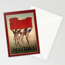 Mantova travel and cherubs Stationery Cards