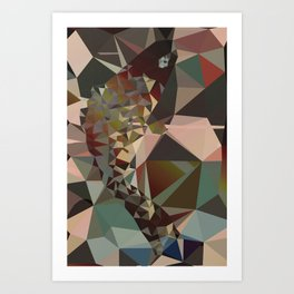 Fin and Fuss - Abstract Art Low Poly Animals Art Print