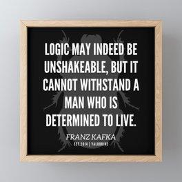 70   |  Franz Kafka Quotes | 190517 Framed Mini Art Print
