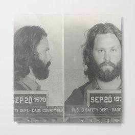 Morrison Miami Mug Shot Metal Print