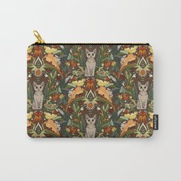 Peterbald cat damask earth Carry-All Pouch