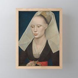 Portrait of a Lady by Rogier van der Weyden Framed Mini Art Print
