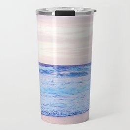 Purple Sunset over Hermosa Beach, Los Angeles  Travel Mug