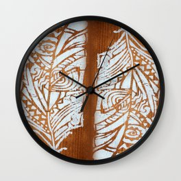 White Feather Wall Clock