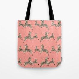 Royal Tenenbaums Zebra Wallpaper - Pink Tote Bag