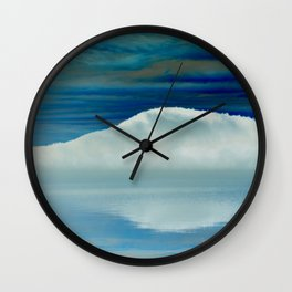 Ice in the Morning on Lake George Wall Clock