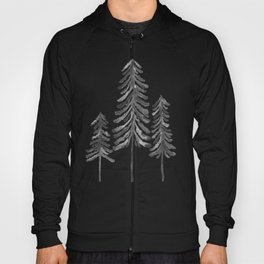 Pine Trees – Black Ink Hoody