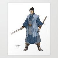 The Wandering Swordsman Art Print