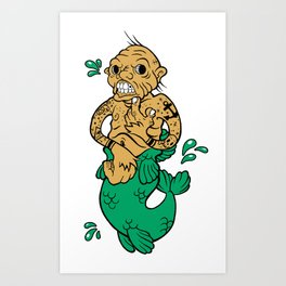 Feejee Mermaid Art Print