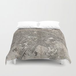 Vintage Map of Florence Italy (1847) Duvet Cover