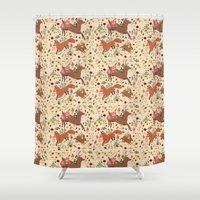 woodland Shower Curtains featuring Woodland by Sophie Eves