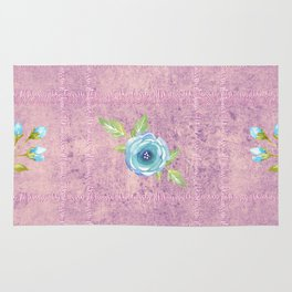 Do All Things With Kindness - floral text print Rug