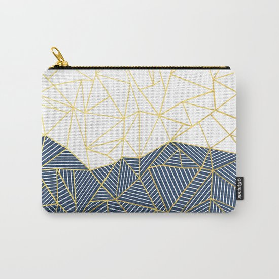 Ab Half and Half Navy Gold Carry-All Pouch