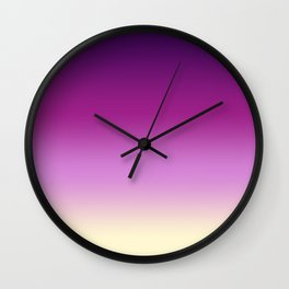 Plums with Cream Wall Clock