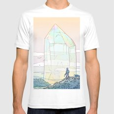 Giant Crystal 2 Mens Fitted Tee LARGE White