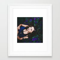emily rickard Framed Art Prints featuring Emily by Savannah Daras
