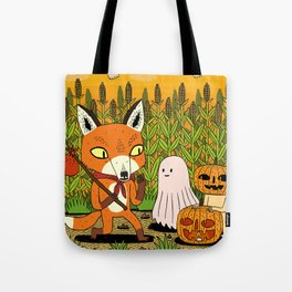The Fox and the Pumpkin Tote Bag