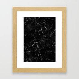 Marble Storm Framed Art Print