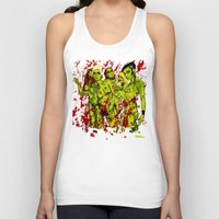 zombies Tank Tops featuring SEXY ZOMBIES by Thomas B.- Rock Artwork