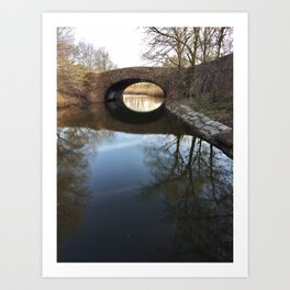 Fens Reflection Art Print