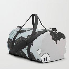 Bats & Monsters Halloween Spider Web Duffle Bag