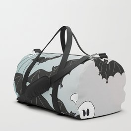 Bats & Monsters Halloween Spider Web Duffle Bag