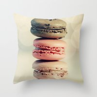 macarons Throw Pillows featuring macarons . . . by [o] Suze q