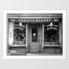 Vesubio Bakery (B/W) Art Print