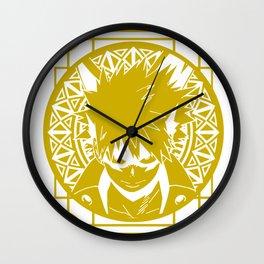 Stained Glass - My Hero Academia - Katsuki Bakugo Wall Clock