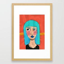 Judging look Framed Art Print