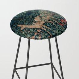 William Morris Greenery Tapestry Bar Stool