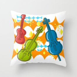 Sunny Grappelli String Jazz Trio Composition Throw Pillow