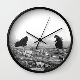 Old time Godzilla vs King Kong Reprised Wall Clock