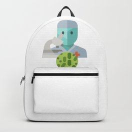 Bacteriologist Icon Backpack
