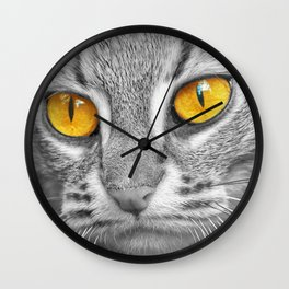 RUSTY SPOTTED CAT Wall Clock