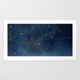 Hanging Stars Art Print