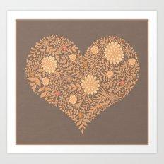 HEART ABSTRACT Art Print
