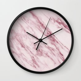 Pink Marble Pattern - Swirled Raspberry Pink Marble Wall Clock